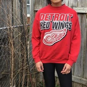 VINTAGE 80s/90s Detroit Red Wings Crewneck Sweater